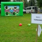 Fussballtorwand Spiel mieten