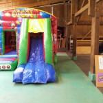 Luftschloss Zirkus mit Rutsche mieten