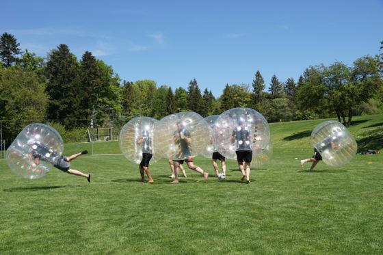 Bubble Soccer Fussball mieten Schweiz