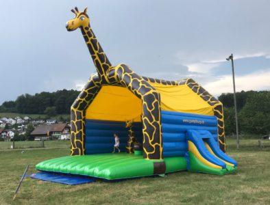 Hüpfburg Riesen-Giraffe