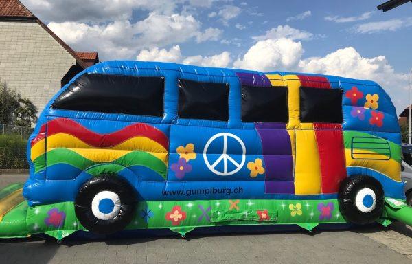Hüpfburg Hippie Bus