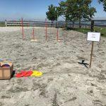Frisbee Eventspiel Wettkampfpark mieten