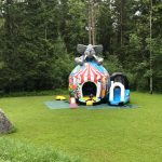 Luftschloss Elefant Disco mieten Eventspiele Schweiz