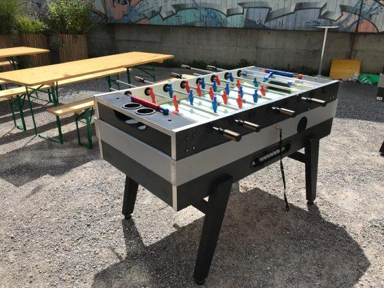 Tischkicker 4 Spieler Eventspiel Schweiz mieten