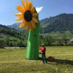 Aufblasbare Sonnenblume